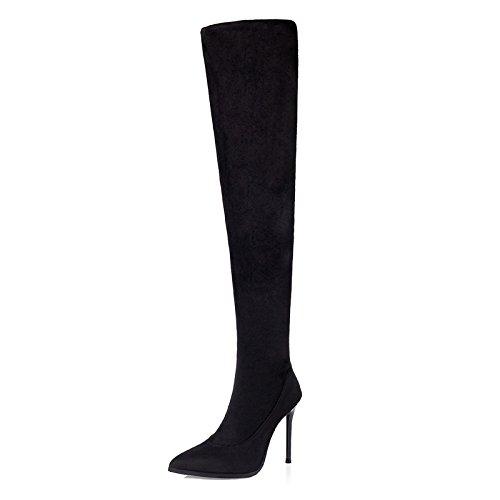 FLYRCX Stile Europeo Moda sexy bella punta tacco stivali alta partito scarpe tacco B
