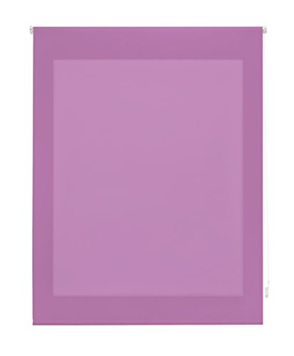 Uniestor Estor Enrollable Liso Traslúcido Tela Morado 120x175 cm