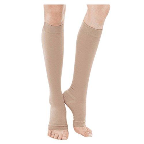 40 Mmhg Abgestufte Kompression Strumpfhosen (Haodasi Kniehohe abgestufte Kompression Mutterschaft Strümpfe Klasse 3 (40-50 mmHg) - Medizinisch Elastisch Strümpfe Krampfadern Socken)