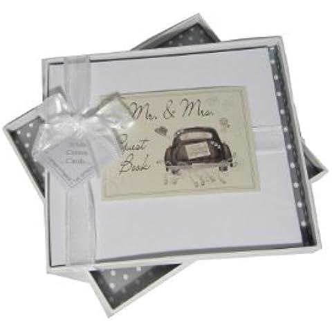 white cotton cards - Libro de visitas para boda, diseño con texto
