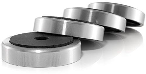 Hifi Lab Aluminium Füße 50x11,5 Geräte-Füße Alu Audio Absorber silber Feet edel 4x
