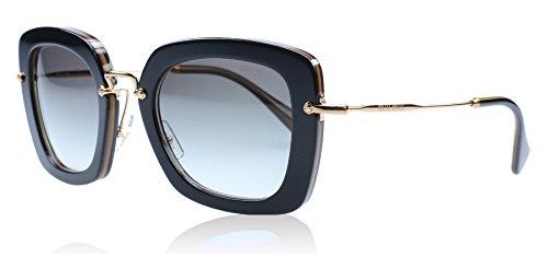 Miu Miu Damen Sonnenbrille MU07OS, Schwarz (Black KAY0A7), One size (Herstellergröße: 52)