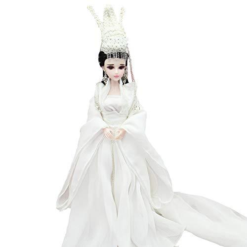 DoCori Doll Chinesische Puppe mit Alten Kostüm orientalischer Seide Verkleidet Figur Puppe Statue für Desktop-Dekor im Schlafzimmer