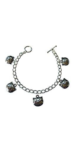Cat Handy-charme (Cat Face Fünf Charme Armband–Größe Klein 15cm)