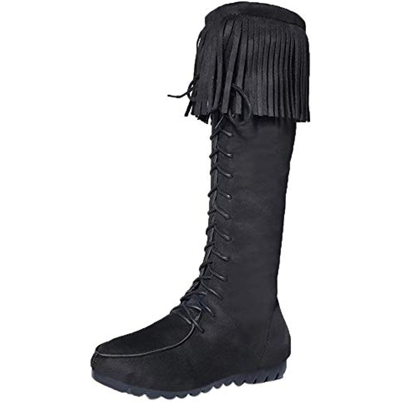 LHWY-- Bottes Bottes LHWY-- femme Femmes Filles en bottes noires bottes de neige chaussures Bottes au genou à bas prix Pompon... - B07HFW6R59 - 46185a