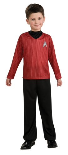 2009 Star Trek Kostüm (Rubie 's Offizielle Star Trek rot Shirt Fancy Kleid)