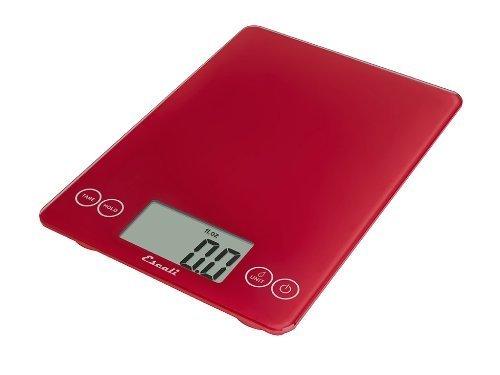 Escali 157RR Arti Glas, Digitale Küchenwaage, Belastbar bis 6,8 Kg, 7 Kg, Retro Red Escali - Escali Glas