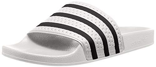 adidas Unisex-Erwachsene Originals ADILETTE Bade Sandalen - Weiß (WHITE/CBLACK/WHITE), EU 44.5