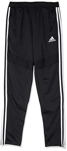 adidas Tiro19 Polyester Youth, Pants Unisex Bambini, Black/White, 11-12A