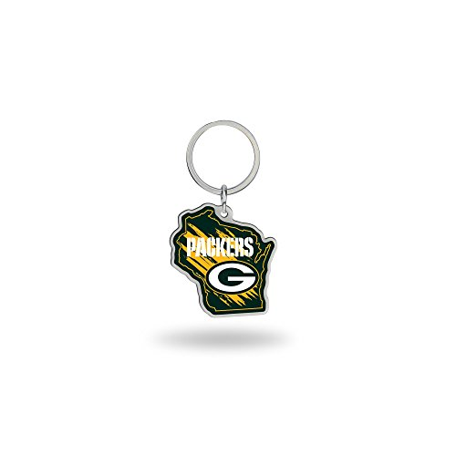 Rico Industries NFL Green Bay Packers State Shape Keychain