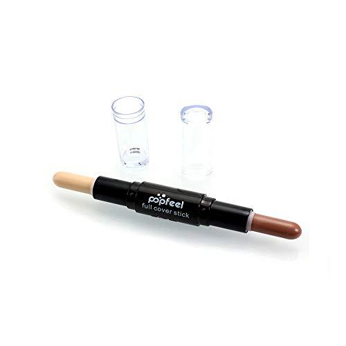 Hupoop Double-Headed Make-up natürliche Creme Gesicht Auge Concealer Highlight Profil Stift (A) -