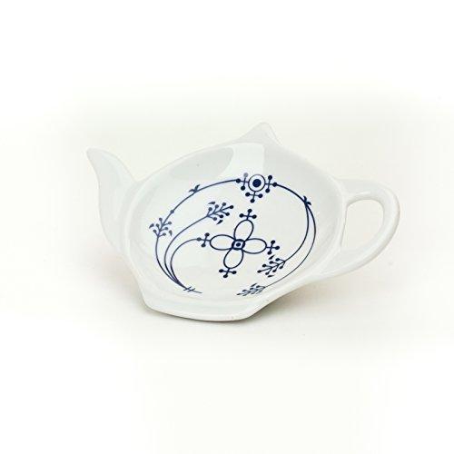 Ocean-Line Indisch Blau Strohblume Teebeutelablage Porzellan