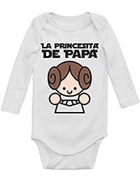 Body de Manga Larga para bebé - La Princesita de Papa - Regalo para Padre