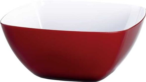 Emsa 505270 VIENNA Saladier-bol en plastique 20cm transparent rouge/blanc