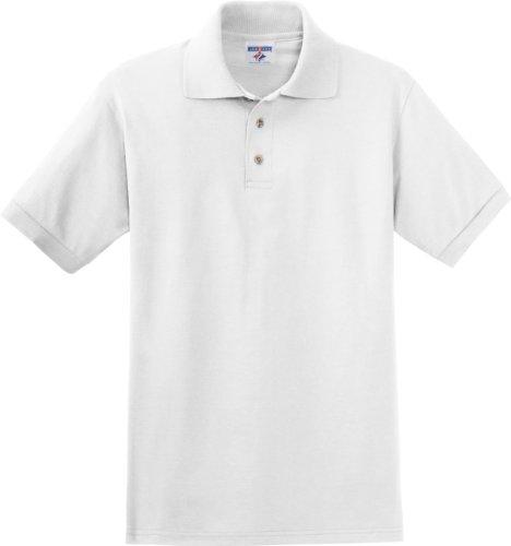 Jerzees Herren Mit Knöpfen Poloshirt Weiß - Weiß