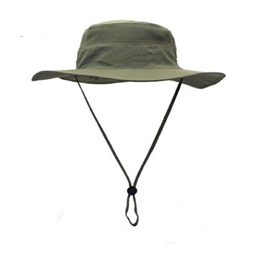 Sonnenhut Herren Damen UPF 50+ Outdoor UV Schutz Mesh Summer Hut Hiking Fischerhut Strand Faltbar Safari Buschhüte Cap