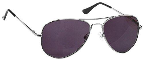 Sonne Leser Lesebrille Sonnenbrille Damen Herren Aviator Stil Silber UVSR008S + 3,50
