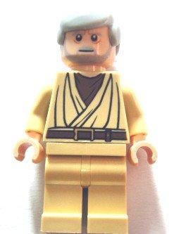 LEGO Star Wars Minifigur - OBI WAN KENOBI - FLEISCH - FARBEN