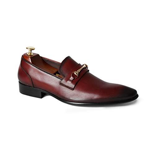 Zxcer Spitz Herren Lederschuhe Herren Slip On Patent Shiny Tassle Driving Loafers Schuhe Leder Smart Casual (Farbe : Rot, Größe : 39 EU) Shiny Patent