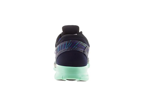 Nike  Wmns Nke Free 5.0 Tr Fit 5 Prt, Sneakers femme Noir - Negro (Blck / Mtllc Slvr-Grn Glw-Rcr Bl)