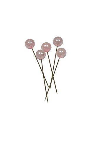 Corderie Italiane 006042440 Deko-Nadeln, Durchmesser: 6 x 65mm, 100 Stück, Rosa