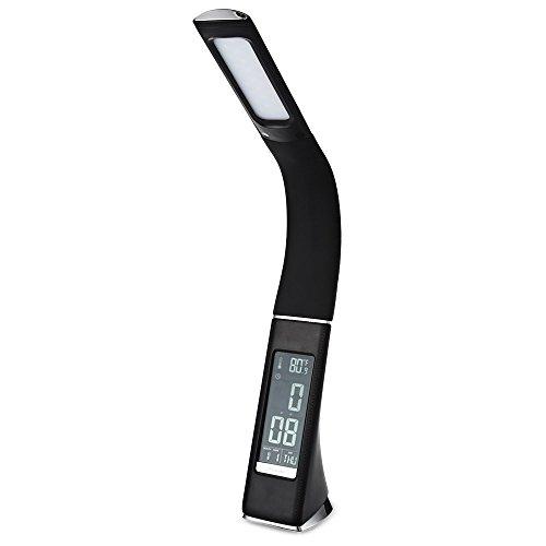 5W 200lm 3Level dimmbar LED Tischleuchte Electronic VA Bildschirm Touch Sensitive Schreibtisch Licht mit Kalender Temperatur Alarm Uhr