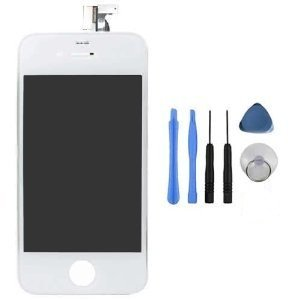 Iphone 4s LCD Touchscreen Komplettset in weiß 33 Lcd