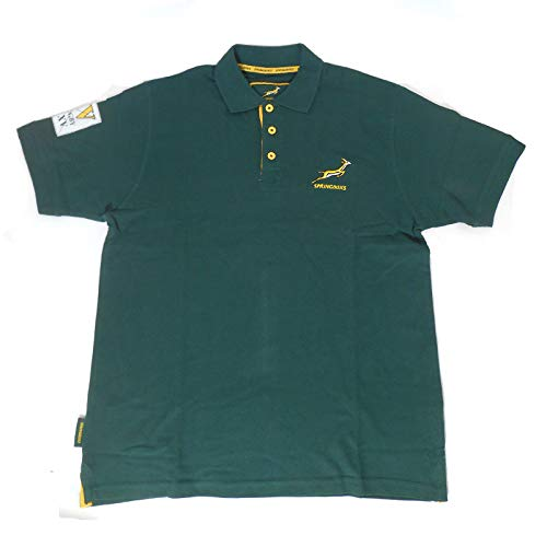 Springboks Rugby (Brandco South Africa springboks Rugby Polo [Green] - Medium)