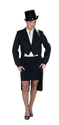 Rubie's Karneval Damen Kostüm Frack schwarz sexy Künstlerin an Fasching 36 (Künstlerinnen Kostüm)