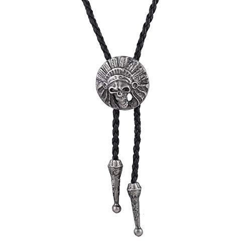 Trendsmax Collar Colgante de los Hombres de Las Mujeres Unisex de Tono de  Plata Indios Jefe a7a9186995d