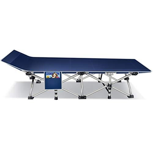Lit pliant Bureau Déjeuner Chaise pliante Accompagnateur Lit Simple Lit de Camp Extérieur (dix...