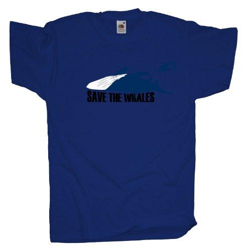 Ma2ca - Save the Whales - Naturschutz T-Shirt Royal