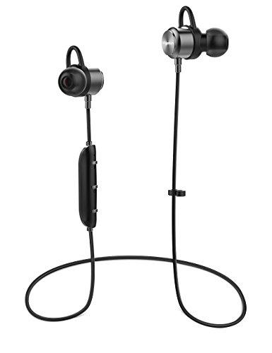 Vigorun Bluetooth Kopfhörer Y3 Kabellos Stereo Ohrhörer In-Ear Magnetisches Schnurlose Sport Ohrhörer Bluetooth V4.2 IPX6 Wasserdicht CVC 6.0 Noise Cancellation, für Sport und Workout (Silber) thumbnail