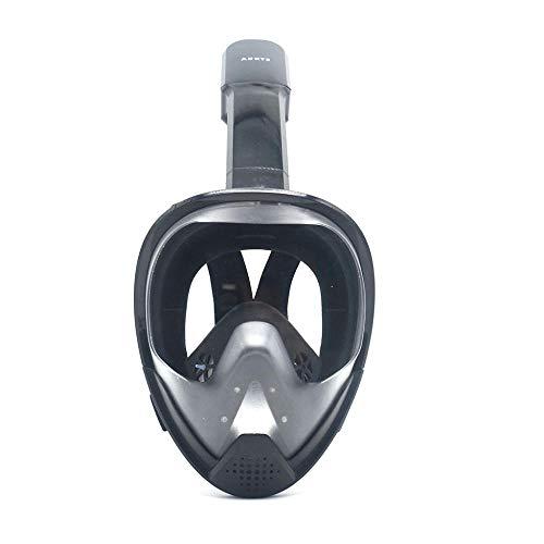 FLHLH Masque de plongée HD,Masque de plongée en Silicone Anti-buée entièrement Sec et imperméable, Lunettes de plongée à Trou traversant, Noir Orange_L / XL,loupes de Masque de plongée