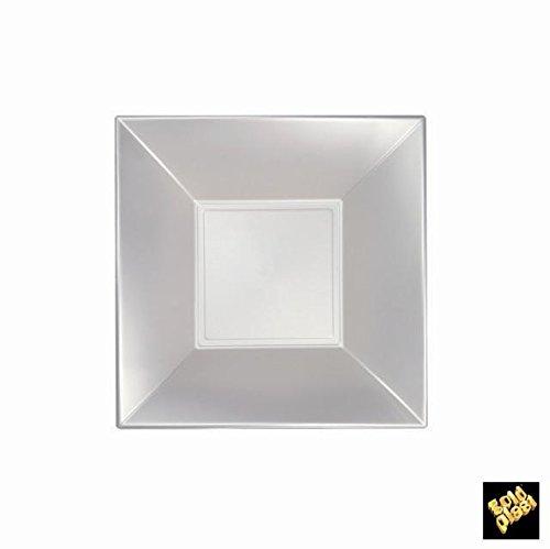 Nice Fonds Assiettes Plastique PP Perlés cfz 25pz 180 mm Bianco Perlè