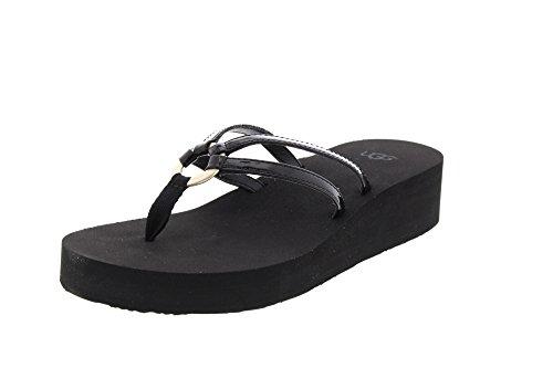 Ugg Damenschuhe - Zehentrenner Sandie 1019875 - Black, Größe:38 EU