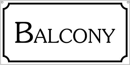 Balkon-Metallschilder, Vintage-Dekoration, 20,3 x 30,5 cm, Theater, Kostüm, Cosplay, TV-Film, - Einfache Kostüm Tv Zeichen