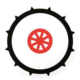 Disque 90 pneu cloute adhesif