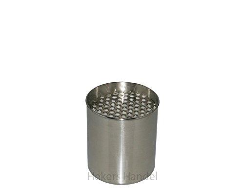 1 Edelstahldose inkl. Keramikschwamm + 1 Edelstahlsparplatte Gelkamin Bioethanol Kamin Brenndose Bioethanoldose Bioethanoleinsatz
