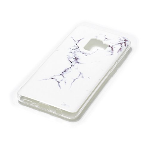 inShang Samsung Galaxy S9 custodia cover del cellulare, Anti Slip, ultra sottile e leggero, custodia morbido realizzata in materiale del TPU, frosted shell , conveniente cell phone case per Galaxy S9, Classic white marble