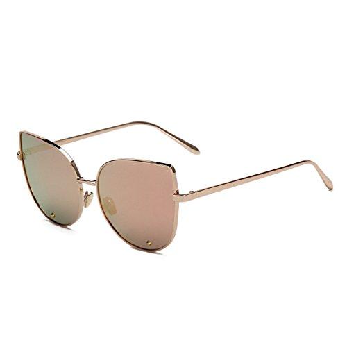 tansle funda ojo de gato gafas de sol para mujeres Metal marco diamant