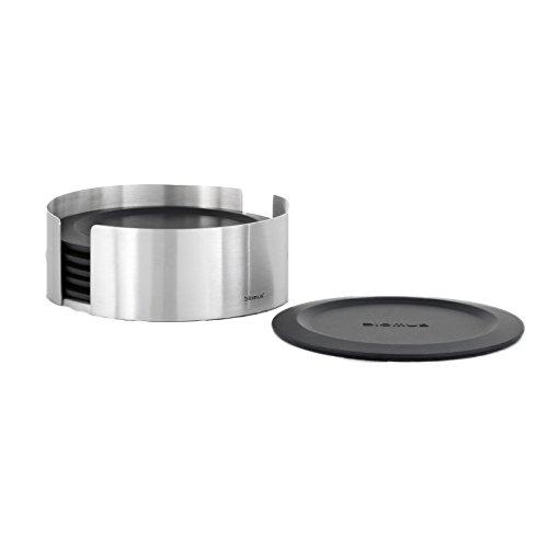 Blomus 63476 Set 6 Untersetzer Lareto, Edelstahl matt (Bar Silber Tisch Metall)