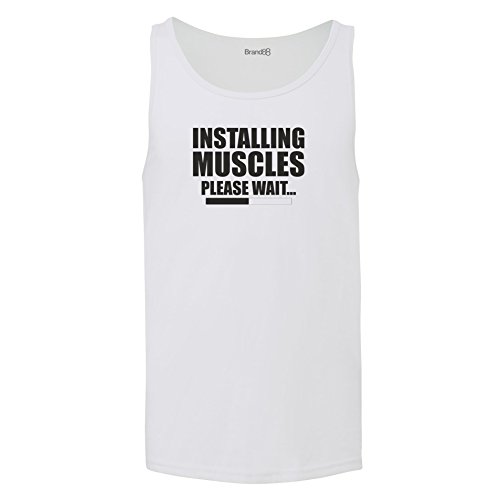 Brand88 - Installing Muscles, Unisex Jersey Weste Weiß