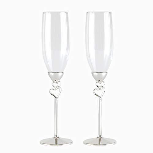 Hjb promozione bicchiere da champagne in cristallo vino rosso la coppa regalo di nozze calice cuore di diamante/vetro da sposa con forma di bowknot