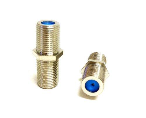 Perfekte Sicht 100Stück F Typ Double Female 3GHz f-81Barrel Splice-Anschluss Kupplung Koax (Splice-anschluss)