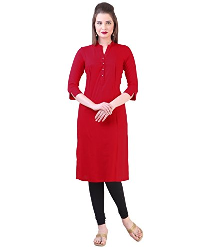 Fusion Multicolor Cap Half Long Short Sleeve sleeveless Kurtis Kaftan for Girls (GT-KVR-R3-XXL)