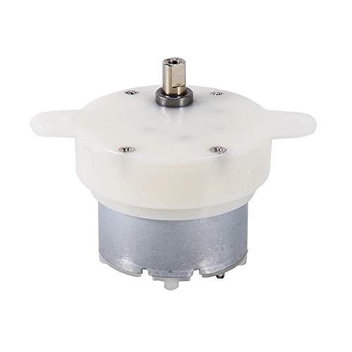 Seawang DC-Motor Getriebemotor Zylinder, 3 U/min Drehgeschwindigkeit, 12 V Gleichstrom, hoher Drehmoment, elektrischer Motor, reduziert Getriebemotor (Hohe U / Min Motor)
