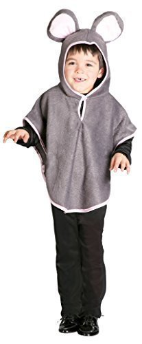 er Grau Maus Ratte Nagetier Tier Kostüm Kleid Outfit - Grau, 5-6 years (Herren Ratte Kostüm)