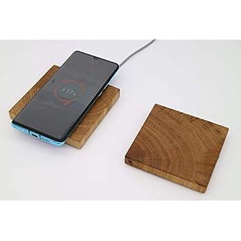 Qi Ladegerät für Smartphones – Induktionsladegerät aus Holz – kabellos Laden durch Induktion – Wireless Charger…