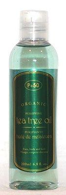 Huile d'arbre à thé 100% bio Huile pour le corps | Huile Anti pellicules | acné Peau | antibactérien | Huile pour cheveux par P + 50 200 ml - sans parfum